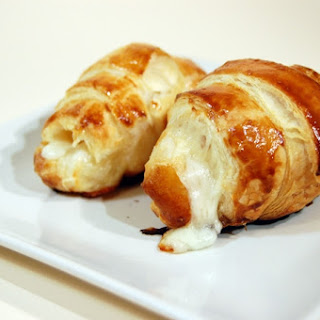 Homemade Ham and Cheese Croissant.