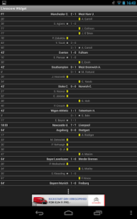 Football Livescore Widget - screenshot thumbnail