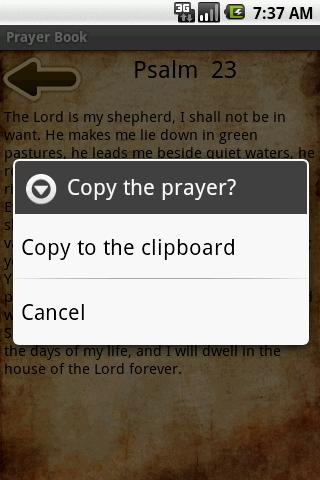 Prayer Book - screenshot