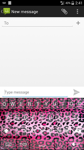 Pink Animal Print Keyboard