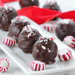 Candy Cane Peppermint Truffles