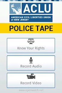 ACLU-NJ Police Tape - screenshot thumbnail