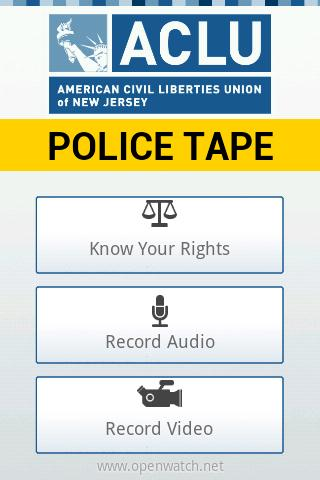 ACLU-NJ Police Tape - screenshot