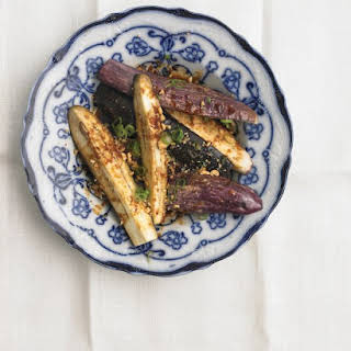 Steamed Eggplant with Peanuts and Scallions.