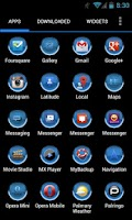 Screenshot of MG Blue Apex Theme