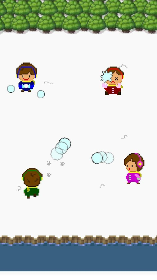 online snowball fights- screenshot