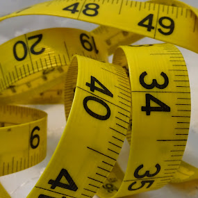 Measure by Judy Dean - Artistic Objects Other Objects ( measure, tape, yellow, measurement,  )
