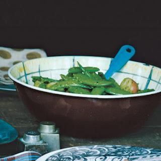Sugar Snap Peas and Potatoes with Parsley Pesto