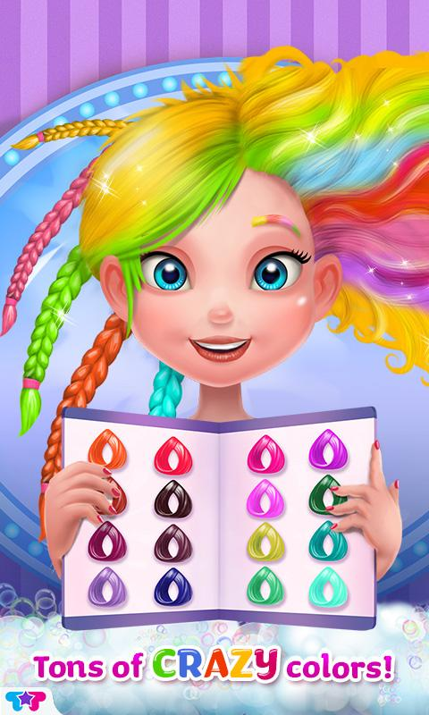 Astounding Crazy Hair Salon Girl Makeover Android Apps On Google Play Hairstyle Inspiration Daily Dogsangcom