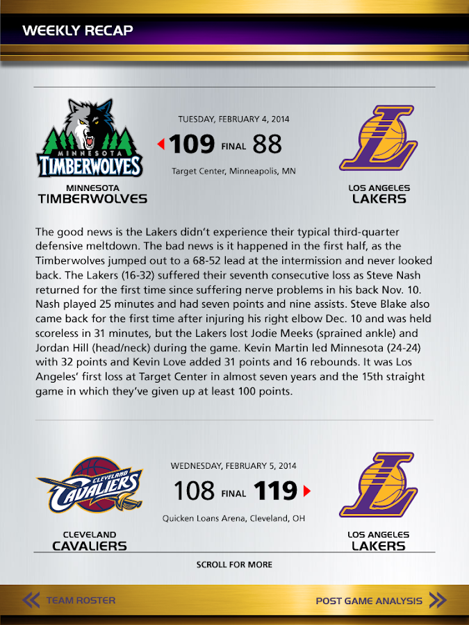 Inside The Lakers - screenshot