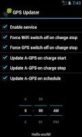 Screenshot of GPS Updater