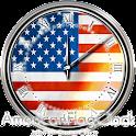 アメリカ国旗の時計ウィジェット icon