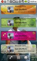 Screenshot of Missed Calls Widget