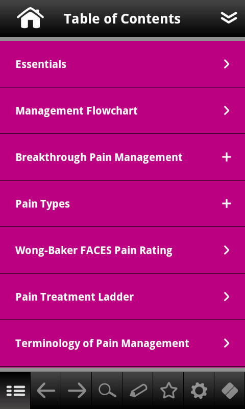 Pain Management pocketcards - screenshot