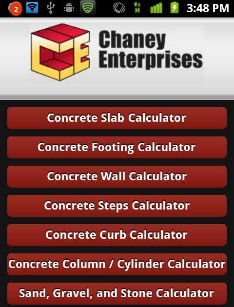 Concrete Slab Calculator : Concrete agg calcuator bim arabia