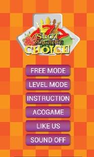 Slot Machine Choice screenshot