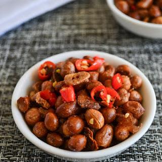 Spicy Garlic Peanuts
