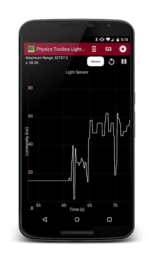 Physics Toolbox Light Sensor - screenshot
