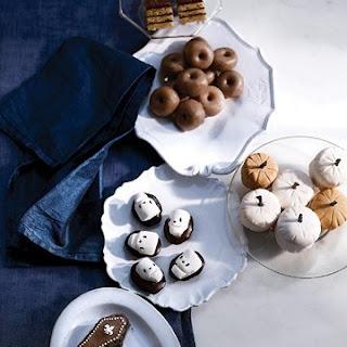 Square Pumpkin-Cake Petits Fours with Honey-Chocolate Glaze