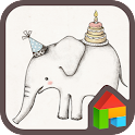 baby elephant dodol theme icon