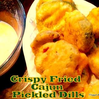 Crispy Fried Cajun Pickled Dills.