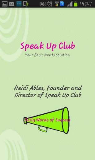 Speak up club