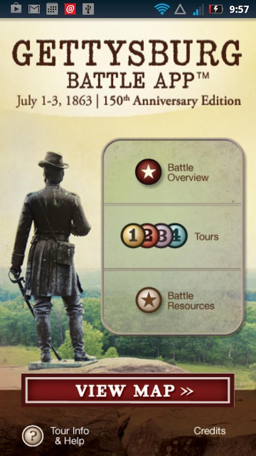 Gettysburg Battle App- screenshot