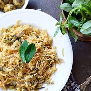 Methi Biryani / Fenugreek Leaves Rice.