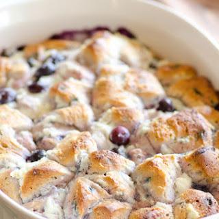 Blueberry Ricotta Breakfast Bubble Up Bake.