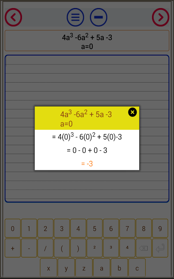 Algebra Basics- screenshot