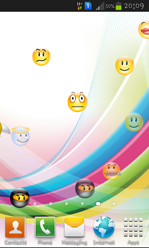 Emoji Fun Touch Live wallpaper