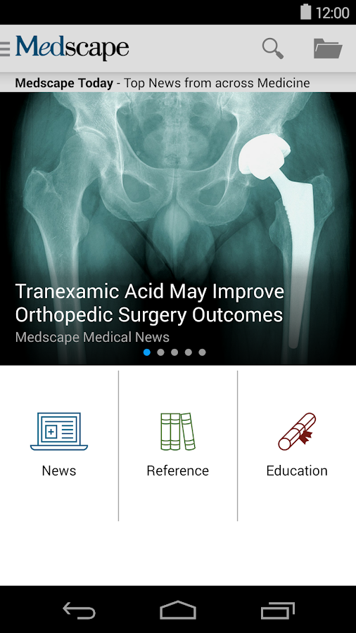 Medscape- screenshot