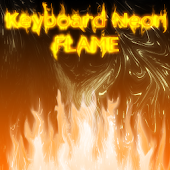 Keyboard Neon Flame