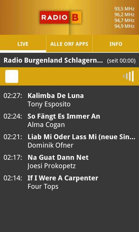 ORF Radio Burgenland- screenshot