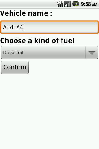 Fuel conso - screenshot