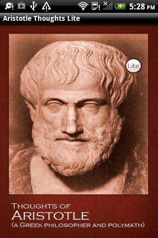 Aristotle Thoughts Lite - screenshot
