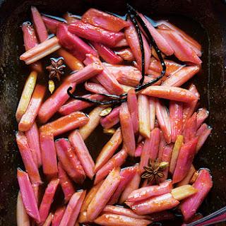 Spiced Braised Rhubarb