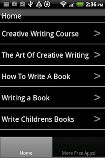 creative writing apps for android Writing is a complex process that includes everything from handwriting skill to sentence construction to planning and drafting a story we've found apps that help young children along all of the steps of the writing process, including the final stages — publishing and sharing your writing with others.