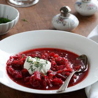 Borscht (Russian-Style Beet Soup).