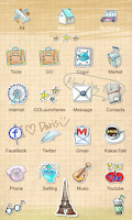 Screenshot of Parisien - GO Launcher Theme