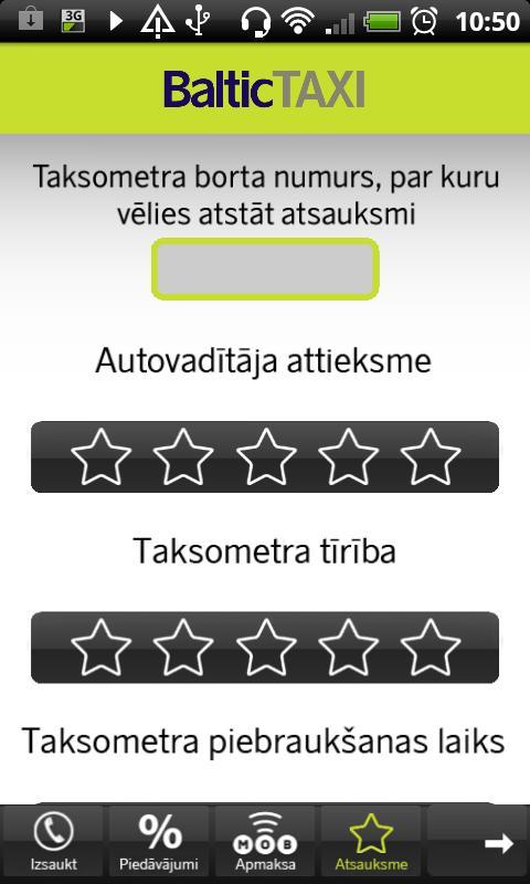 BalticTAXI- screenshot