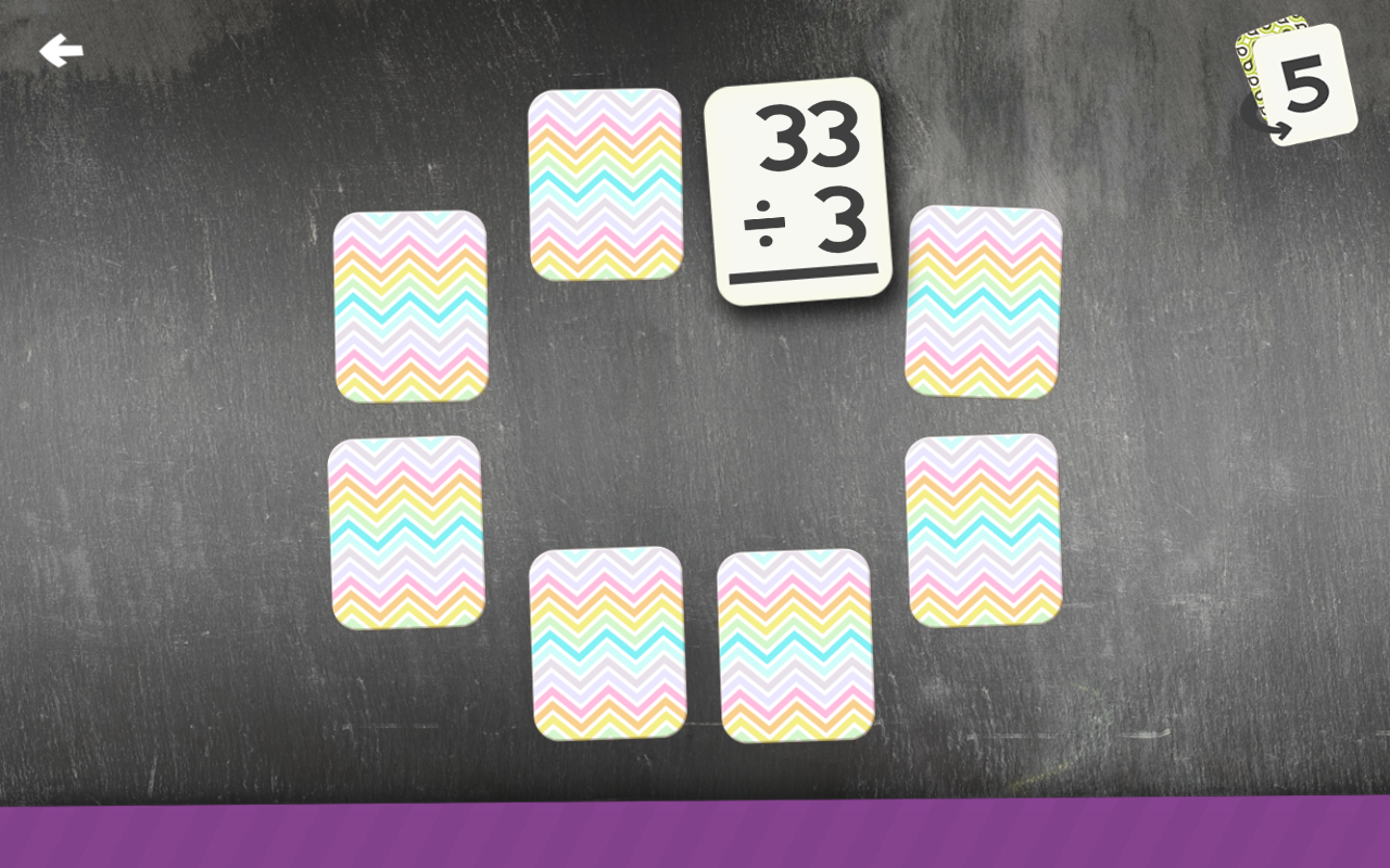 Division Flashcard Match Games for Kids Math Games- screenshot