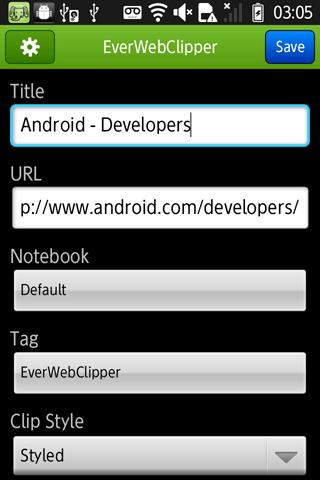 EverWebClipper for Evernote - screenshot