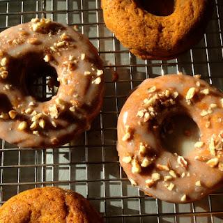 Baked Sweet Potato Doughnuts with Maple Glaze