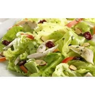 Chicken Salad with Cranberries, Almonds, and Orange Vinaigrette.