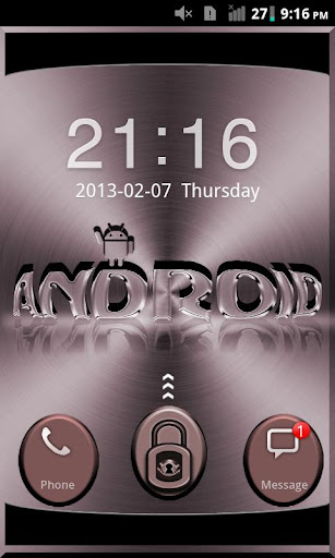Go Locker Red Metal Theme