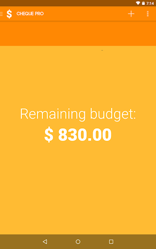 Cheque Simple Budget Planner