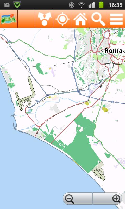 Rome Offline mappa Map - screenshot