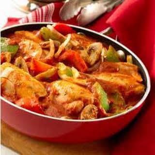 Tomato Basil Skillet Chicken Cacciatore.