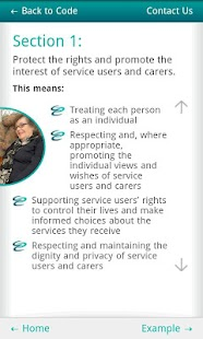 Social Care Workers Code - screenshot thumbnail
